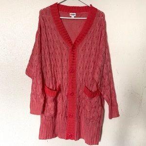Lularoe Pink Cable Knit Lucille Cardigan Medium
